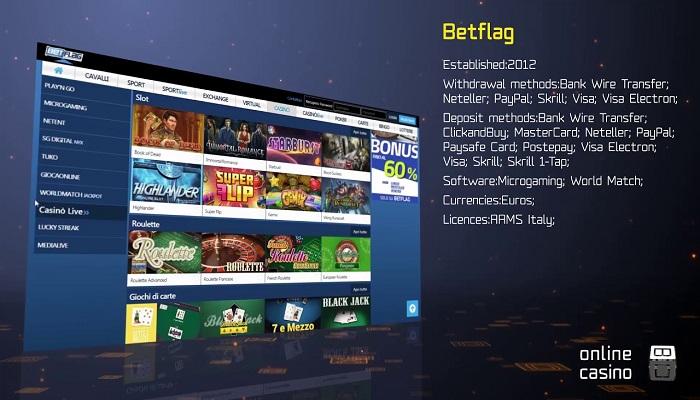 Casino e Slot BetFlag bonus