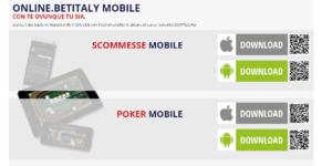 Web e app per dispositive mobile BetItaly