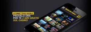 Web e App per dispositivi mobile Scommettendo.it