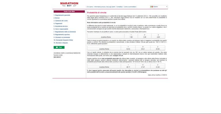 Trucchi Marathonbet
