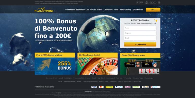 PlanetWin365: Scommesse AAMS, Operatori Di Mercato, Poker E Casinò
